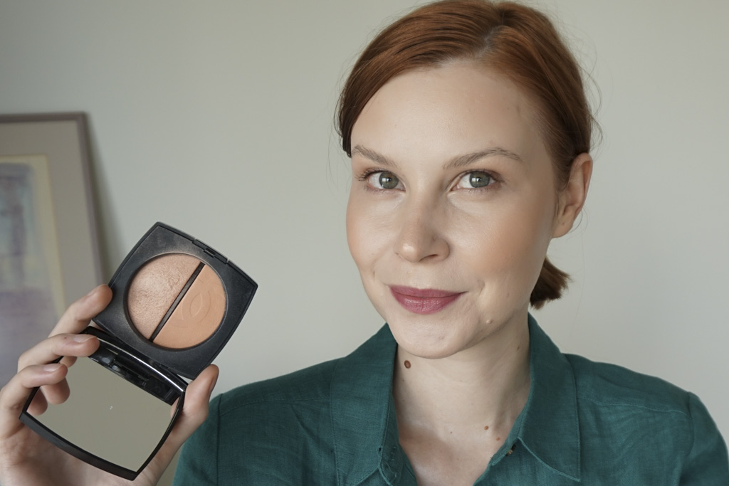 Chanel Duo Bronze Et Lumiere swatches review recenzia odtien Clair
